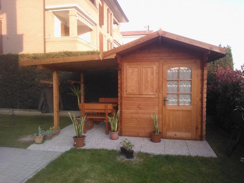 Casetta ad incastro con veranda vz strutturevz strutture for Idee di veranda laterale