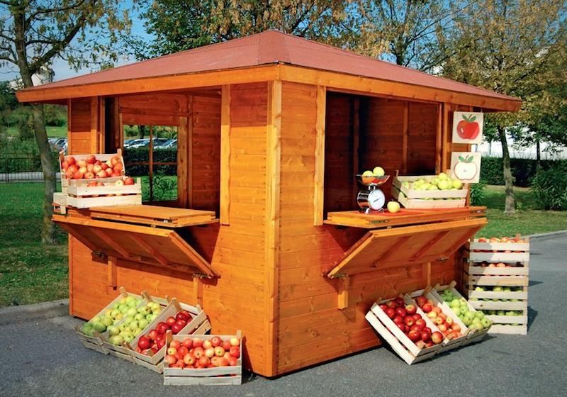 Chioschi in abete con antaribalta vz strutturevz for Kiosco bar madera