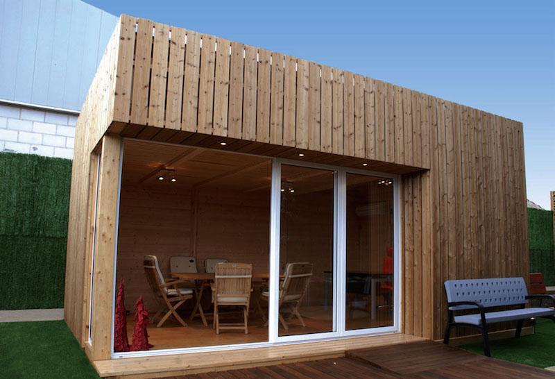Ufficio Casetta Legno : Casetta ufficio o sauna con struttura monofalda con tetto vz